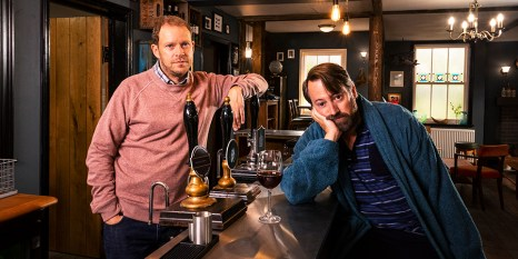 David Mitchell and Robert Webb in Back the C4 sitcom