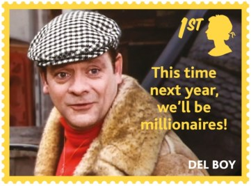 one of the range of Royal Mail stamps celebrating Only Fools and Horses