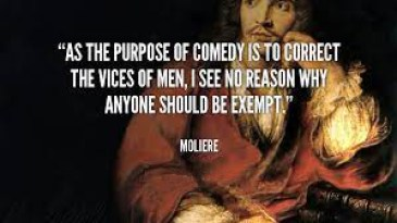 quote on comedy from Moliere
