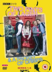 DVD of series 1-6 of Two Pints of Lager and a Packet of Crisps