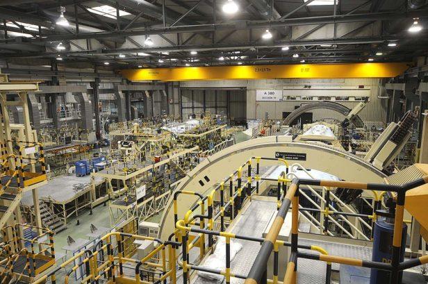 Linea ensamblaje fabrica Airbus en España
