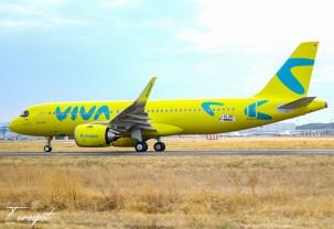 Airbus A320neo de Viva Air Colombia con nueva librea amarilla