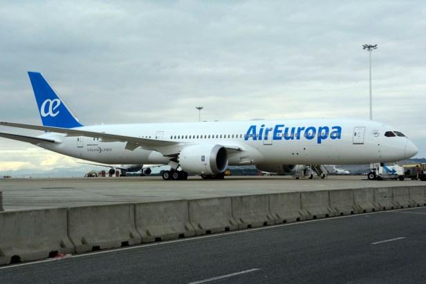 Boeing 787-9 de Air Europa en el Aeropuerto de Madrid