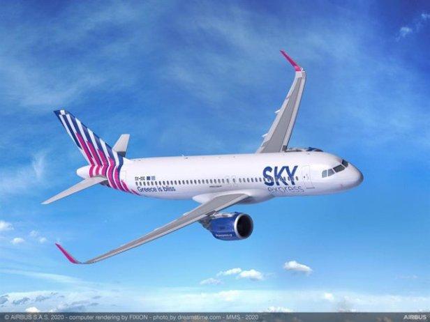 Airbus A32neo de Sky Express Airlines de Grecia
