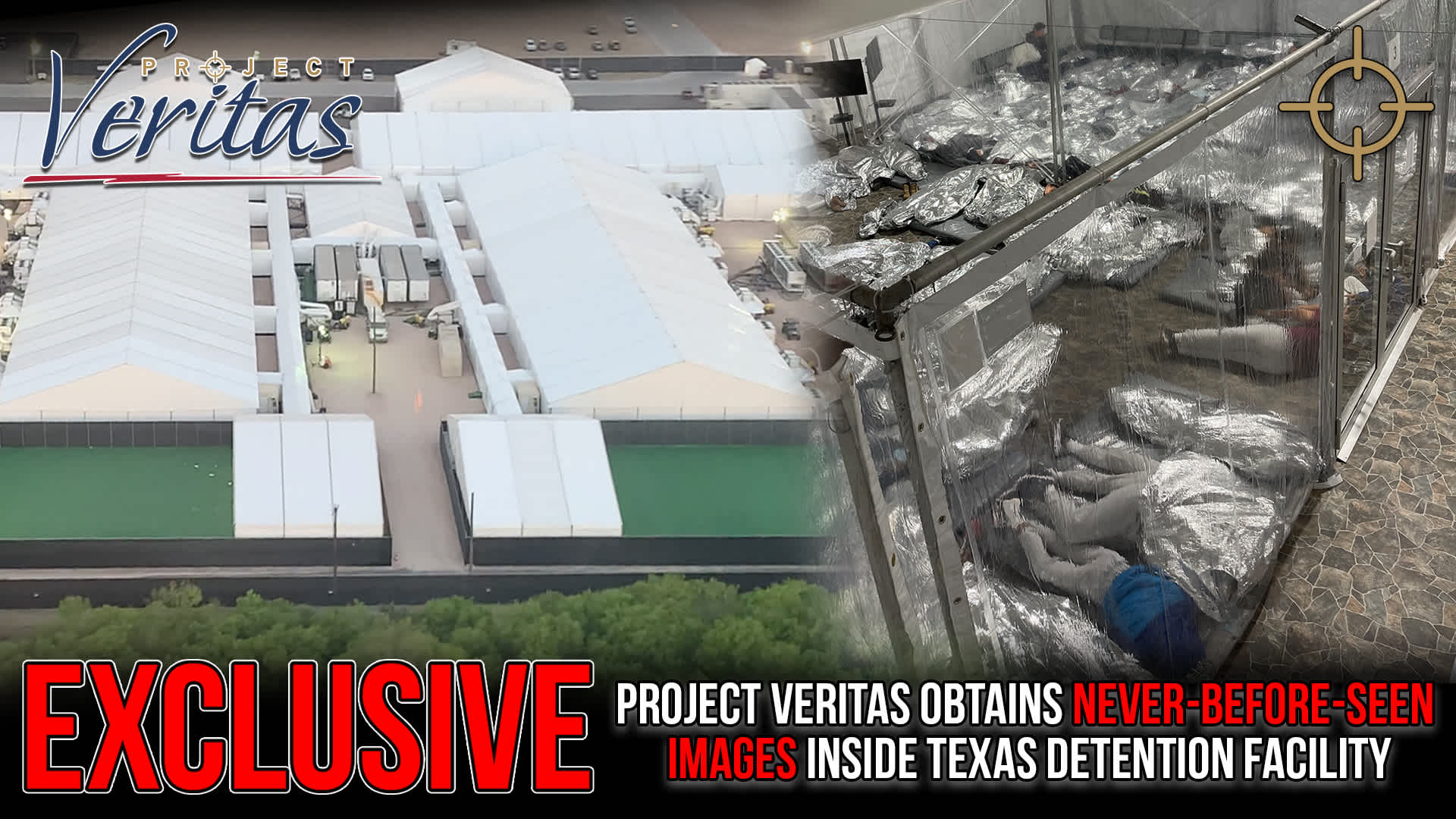 Aerial and interior view of illegal migrant facility in Texas