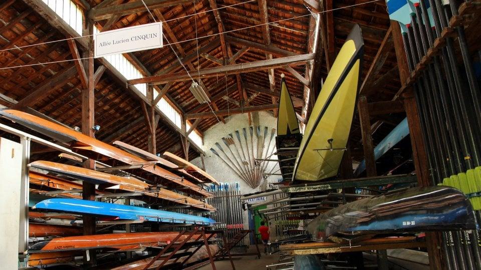 Cercle Aviron Lyon garage à bateaux