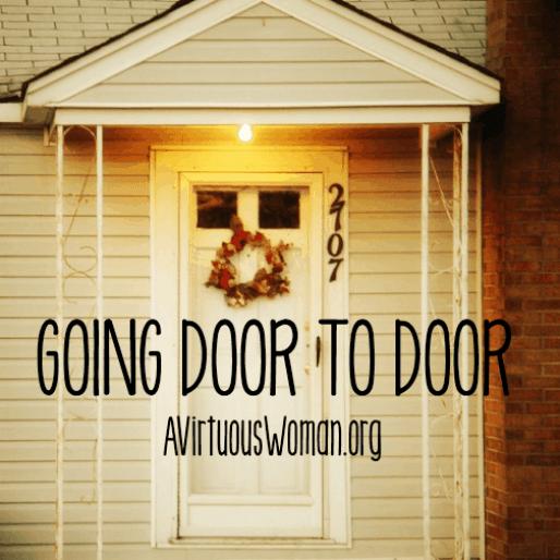Q & A: Going Door to Door Witnessing @ AVirtuousWoman.org