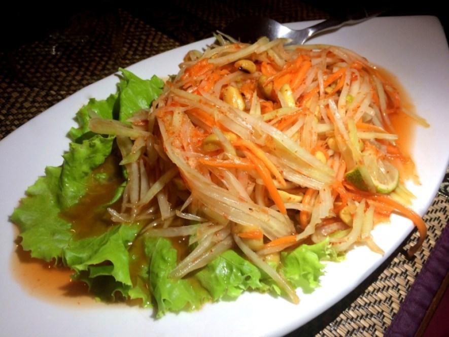 thai run bonne adresse restaurant thaï la saline salade papaye 2