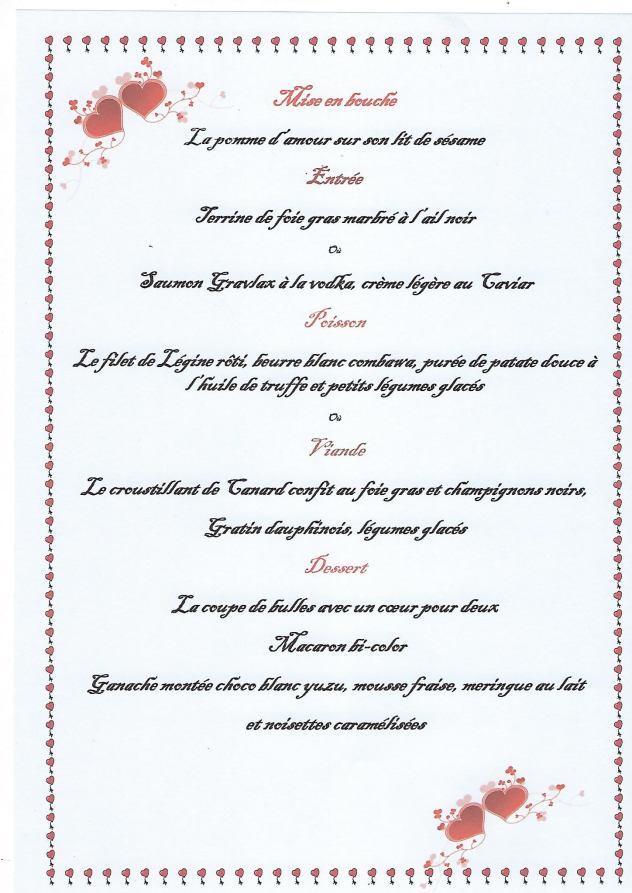 restaurant saint valentin la reunion menu ancre terre mer saint pierre