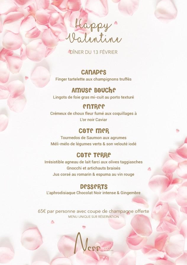 menu saint valentin ness by ocean la reunion saline 974