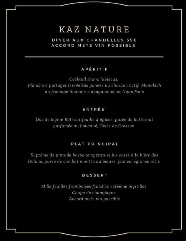 menu saint valentin saint pierre kaz nature