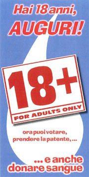 Immagine della cartolina di auguri per i 18 anni dell