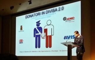 premiazione a Bologna degli agenti donatori di sangue e midollo