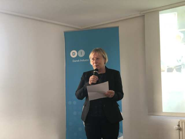 Helle F. Andersen fortalte om DIs kriterier for valget af Kentaur. Foto: Andreas Dyhrberg Andreassen, Fredericia AVISEN.