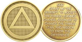 Circle Triangle Alcoholics Anonymous Bronze Medallion