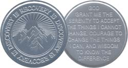 Recovery Is Discovery Aluminum Medallion