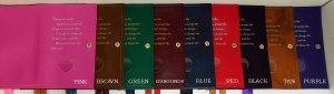 Alcoholics Anonymous Double Big Book Cover Colors L