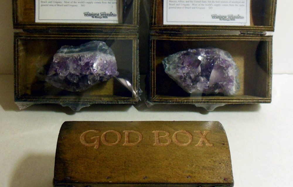 Gorgeous NEW Treasure Chest Amethyst God Box