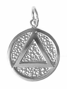 Alcoholics Anonymous Silver Charm 16-2