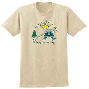 Enjoy The Journey Tan Tee Shirt
