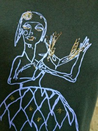 upclose masquerade lady