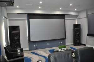Stewart Filmscreen_Gemini at Acoustic Evolution_Shades closed