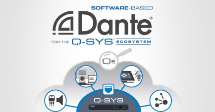 Software-based Dante for the Q-SYS Ecosystem Image
