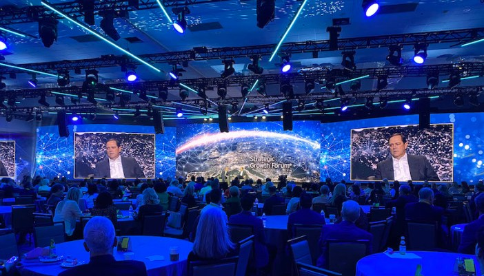 A total of 136 speakers were used to create the immersive 360-degree L-ISA sound configuration, supporting over 160 channels of audio created by the client's creative services team