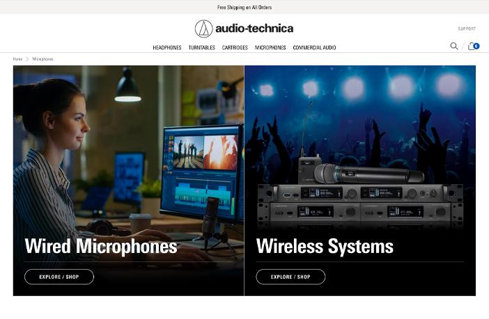 Audio-Technica unveils redesigned website