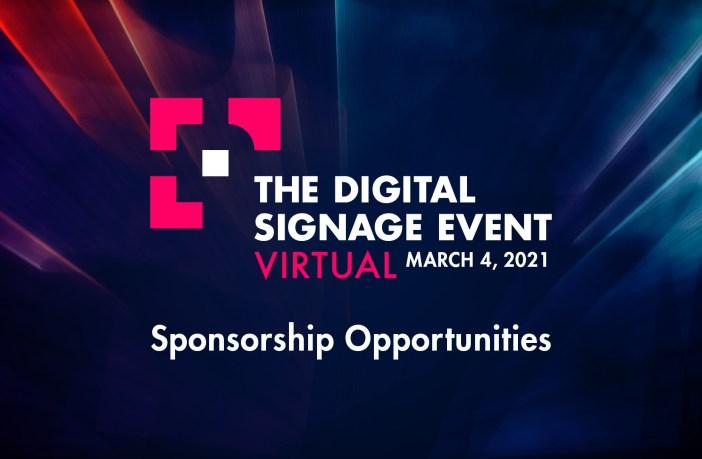 Sponsorships Available for The Digital Sigange Event