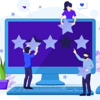 5-star review illustration