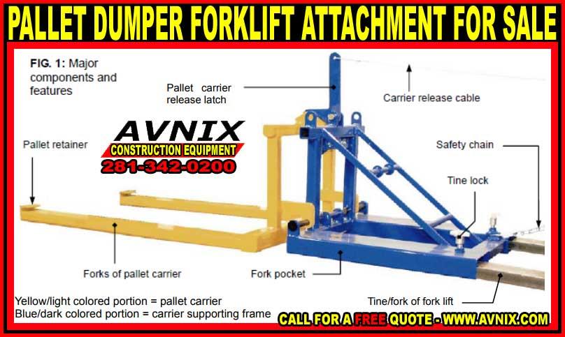 Attachment Fork Lift Gehldumper