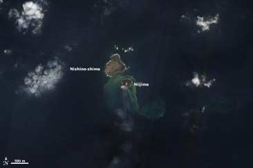 """New Island in Volcanic Island arc, near Japan."" by NASA - http://www.earthobservatory.nasa.gov via Wikimedia Commons"