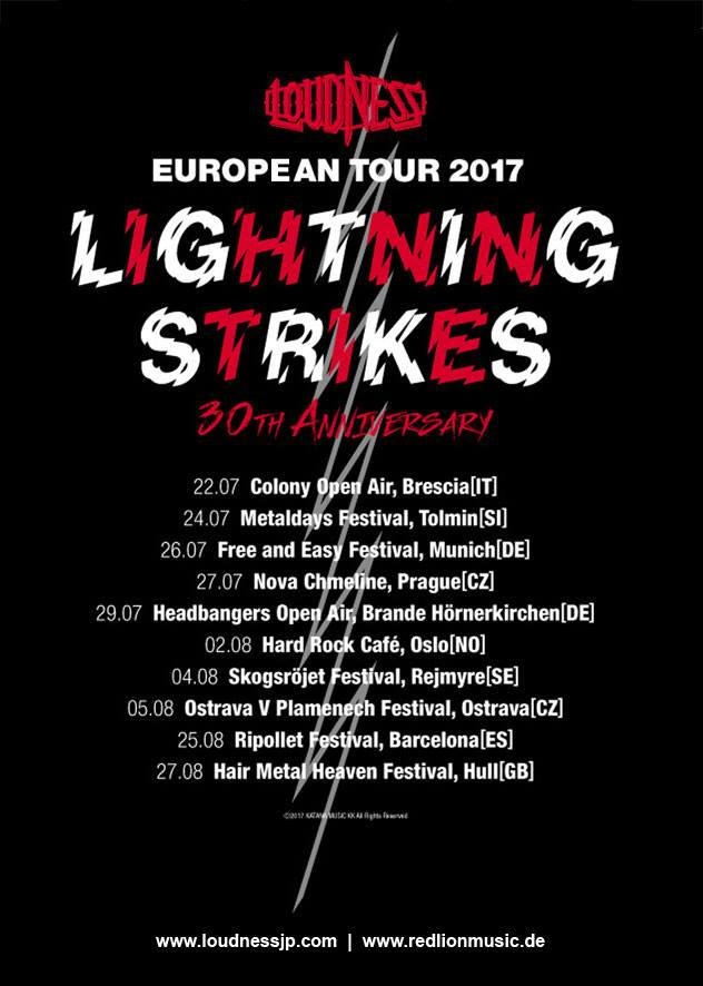 LOUDNESS - LIGHTNING STRIKES 30th anniversary - European Tour 2017