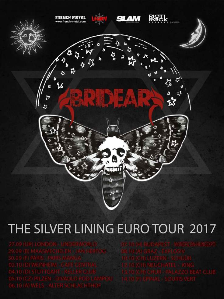 BRIDEAR THE SILVER LINING EURO TOUR 2017