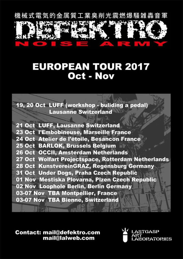 DEFEKTRO Noise Army European tour 2017