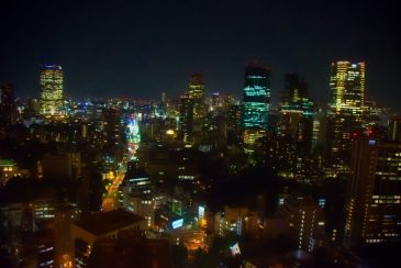 Tokyo by night from the Tokyo Tower