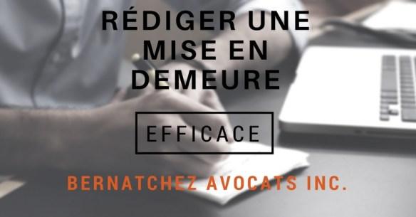 Redaction D Une Mise En Demeure Efficace Bernatchez Avocats Inc