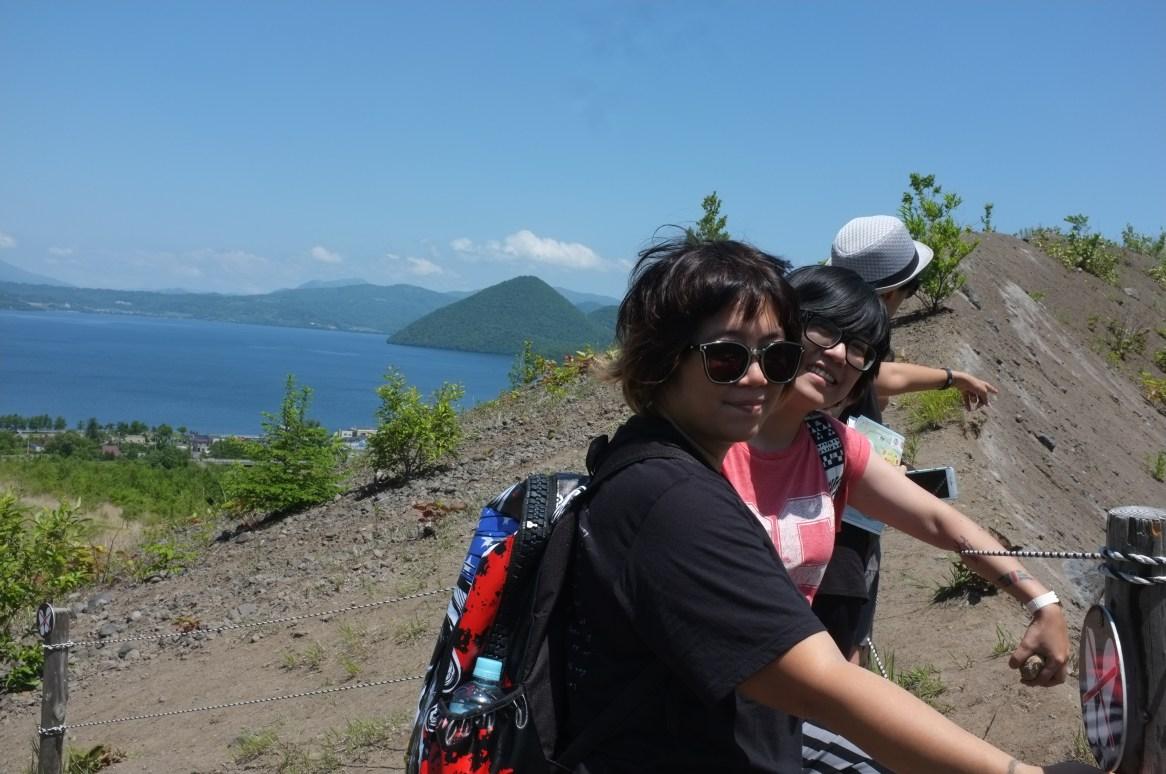 It was waaaay too steep to take a group photo...