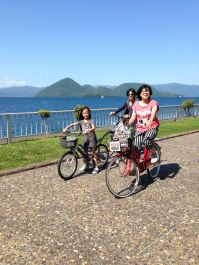 with the Nakajima island in the background