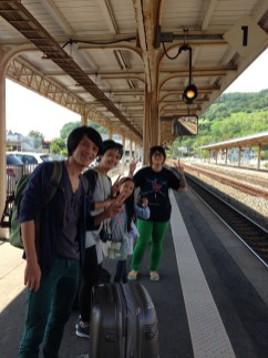 at Toya Train Station