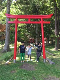 the gate on to the shrines