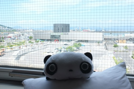 puni, with hakodate station as the background.