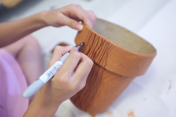 drawing the wooden grain