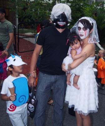 a yokai and his creepy parents