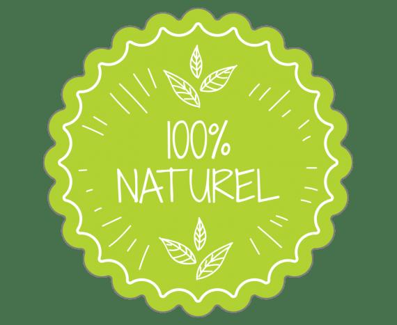 Label 100% naturel