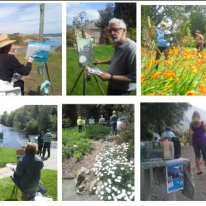 Painting Holiday 2017_Multi image of happy outdoor painters - Painting Holiday 2017
