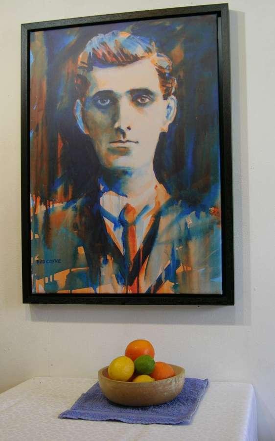 1916 Seán Mac Diarmada print with still life