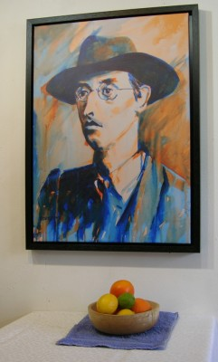 Joseph Plunkett with still life