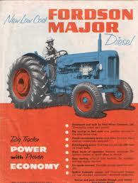 Major Tractor - vintage poster.